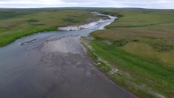 Thumbnail for Top View Of The River In The Tundra