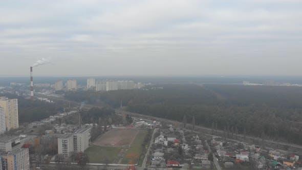 Overcast City Aerial