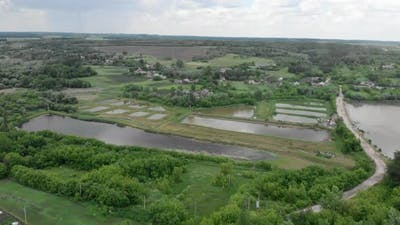 Fish farm lakes