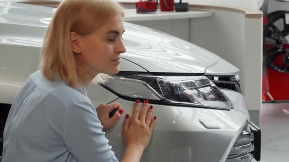 Thumbnail for Young Woman Posing Near Her New Car, Holding Keys