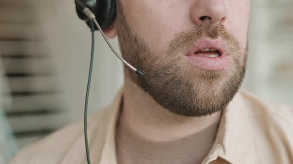 Thumbnail for Cropped Face of Man with Headset