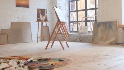 Canvas in Art Workshop