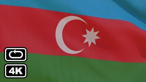 Thumbnail for Azaerbaijan Flag 4K Seamless Loop