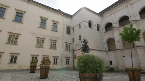 Inner courtyard in Fagaras fortress