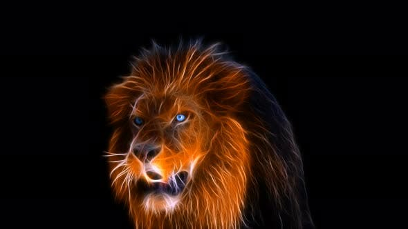 Fractal Lion 4K