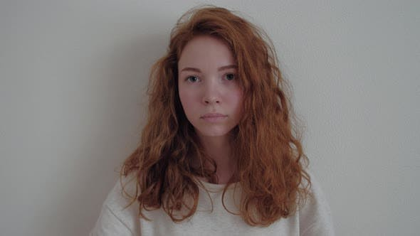 Portrait of Young Tender Redhead Teenage Girl