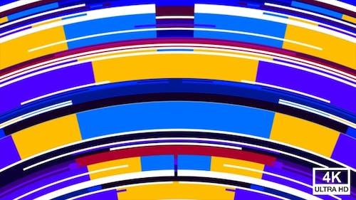 Colorful Random Mixed Stripes Transition 4K 09