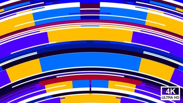 Colorful Random Mixed Stripes Transition 4K 09