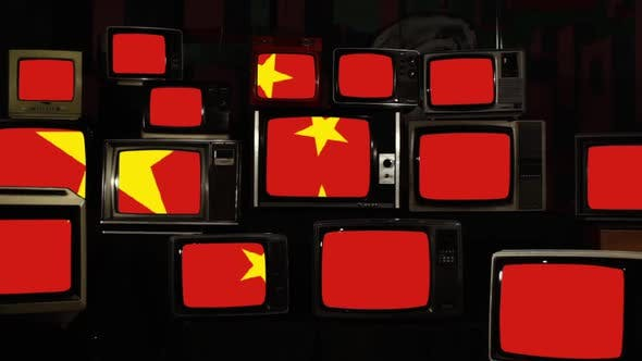 Thumbnail for Flag of China and Retro TVs.