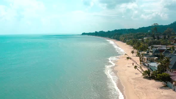 Aerial View of the Beach in Koh Samui Thailand South East Asia