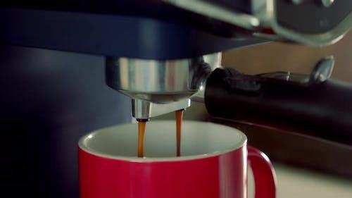 Espresso Preparation Home Making Hot Espresso Arabica Coffee of the Highest Quality with a