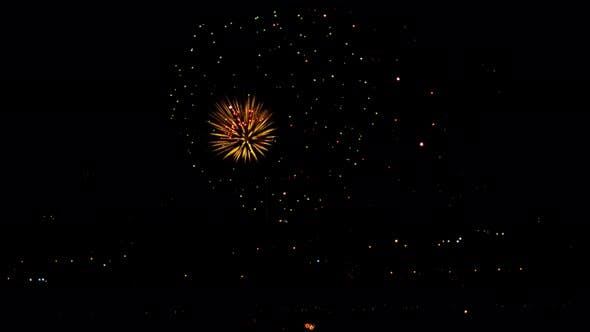 Cover Image for Fireworks Flashing in the Night Holiday Sky