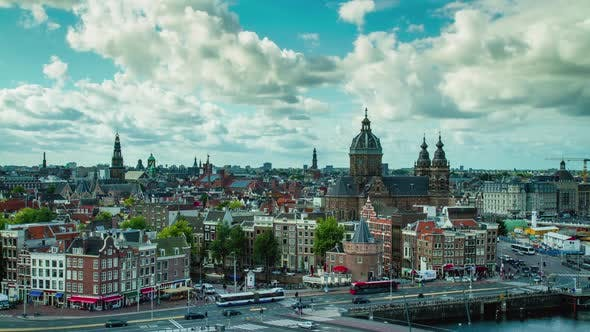 Thumbnail for Amsterdam Cityscape Time Lapse