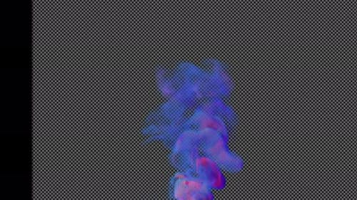 Abstract Transparent Color Smoke in a Motion