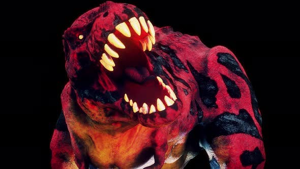 Scary Hell Dinosaur Vj Loop