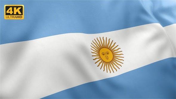 Thumbnail for Flag of Argentina - 4K