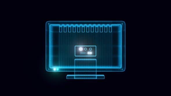 Lcd Led Tv Rotating Hologram Hd