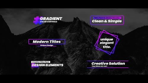 Gradient Titles For FCPX