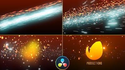 Cinematic Light Streaks Logo - DaVinci Resolve