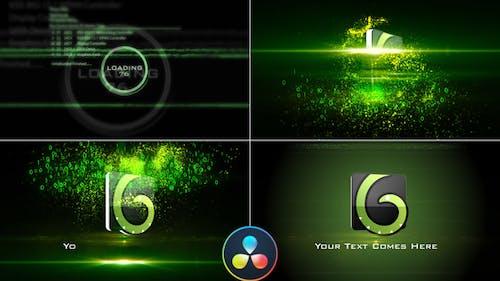 Digital Glitch Logo - DaVinci Resolve