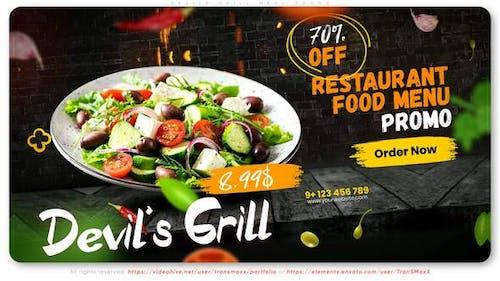 Devils Grill Menu Promo
