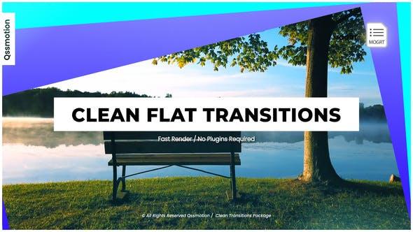 Clean Flat Transitions I MOGRT
