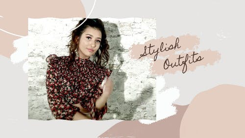 Fashion Slideshow In Brush Stroke