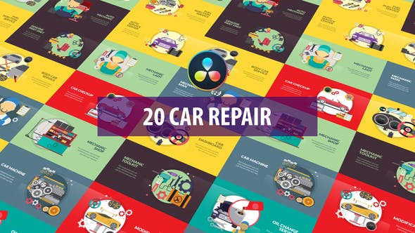 Car Repair Animation   DaVinci Resolve
