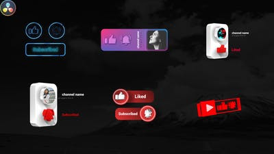Youtube Subscribe Elements Pack