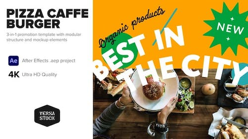 3-in-1 Caffe Pizza Burger Fast Food Promo