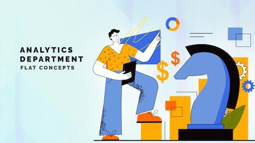 Analytics department - Flat Concept