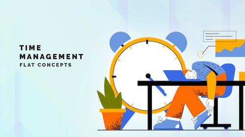 Time management - Flat Concept