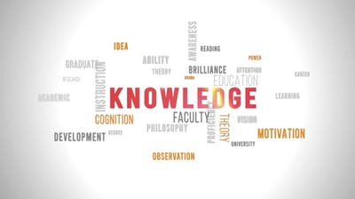 Word Cloud Knowledge  White Background