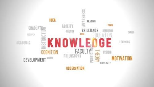 Word Cloud Knowledge Fond blanc
