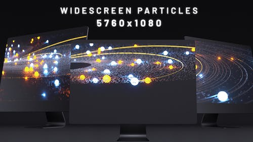 Abstract Dark Line Particles Widescreen