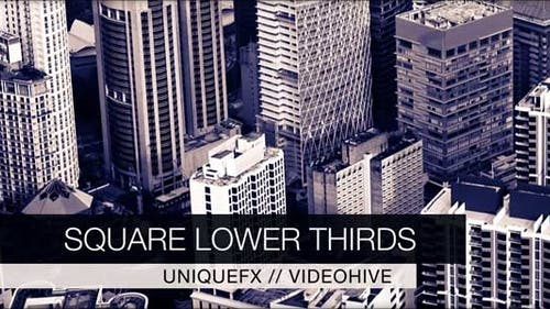 Square Lower Thirds