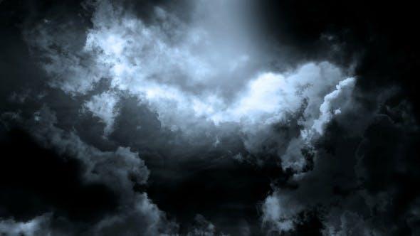 Heavy Lightning Storm Background