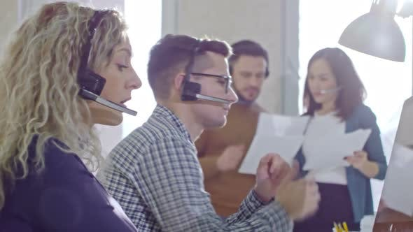 Thumbnail for Call Centre Operators Calling Customers