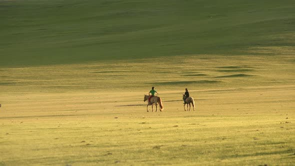 Thumbnail for Two Horsemen in Treeless Central Asian Steppes