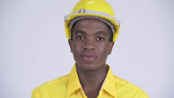 Thumbnail for Face of Young Happy African Businessman As Engineer Smiling
