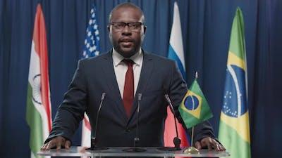 Brazilian Politician Speaking