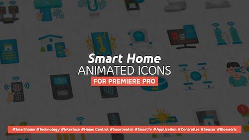 Smart Home Modern Flat Animated Icons - Mogrt