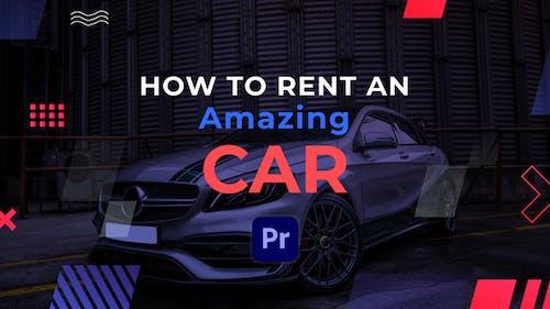 Car Rent Slideshow | Premiere Pro MOGRT
