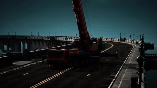 Hochwegbrücke im Bau
