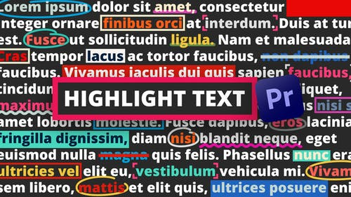 Highlight Text | Premiere Pro