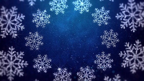 Cover Image for Christmas Snowflakes Blue Background