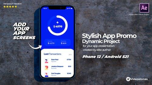 Stylish Mobile App Promo - App Demonstration Video - 3d Mobile Mockup Kit