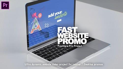 Fast Website Promo Premiere Pro version
