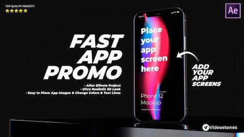 Fast App Promo - Dynamic & Stylish Mobile App Mockup Demonstration Video