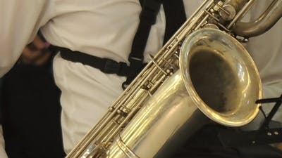 Musician Paying The Saxophone